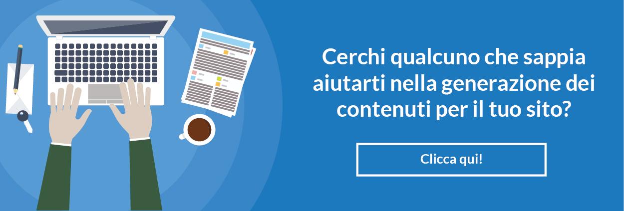 realizzazione contenuti sito web